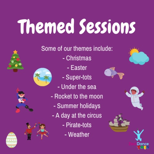 dance tots themed sessions